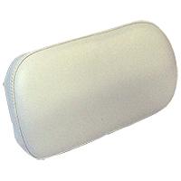 Seat Upper Back White Vinyl on Steel