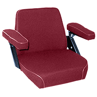 Seat Assembly Claret Fabric On Steel