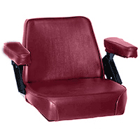 Seat Assembly Claret Vinyl on Steel