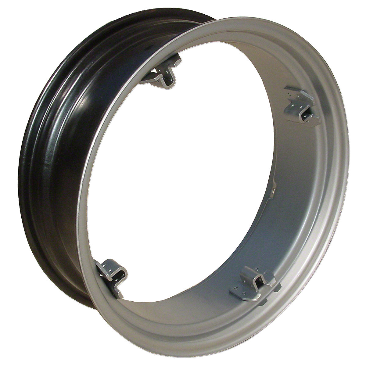 10X24 4 Loop Rear Rim For Oliver Super 44. 4 Loop Mounting Holes 14 Center to Center.  Please check and measure your tractor closely because if this rim does not fit, we do not pay return shipping on rims.
