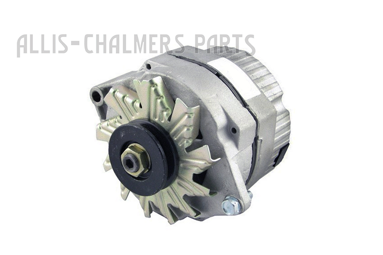 New Delco Style Single Wire 12 Volt, 63 Amp, Internally Regulated, Self-Exciting Alternator For John Deere Tractors. This Alternator can also be used when converting a Generator to a Alternator or Converting a Externally Regulated Alternator to a Internally Regulated Alternator. Fits Oliver Tractor Models 44, 55, 60, 66, 70, 77, 88, 99, 440, 550, 660, 770, 880, 950, 990, 995, 1550, 1555, 1600, 1650, 1655, 1750, 1755. 1800. 1850. 1855, 1900, 1950, 1950T, 1955, Super 44, Super 55, Super 66, Super 77, Super 88, Super 99. Replaces PN: 10459509, 89017780, 89017780V