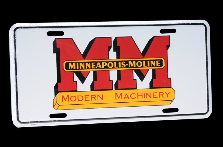 This is a metal, embossed with raised lettering license plate. Great for the MM enthusiast.