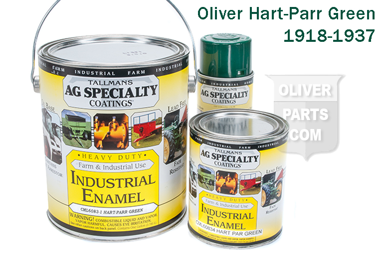 Custom mixed color! This is the correct dark green color used on the Hart-Parr tractors.  This paint does not require reducer, and it is not recommended.  If you feel you want a reducer, the manufacturer recommends pure naptha.  Also hardener is not required but it is an option. For hardener, see product #OP1207.