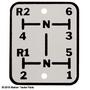 Shift Pattern Plate - Oliver 660, 770, 880
